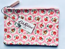 NWT CATH KIDSTON SHABBY CHIC PINK FLORAL ROSE POUCH BAG CASE