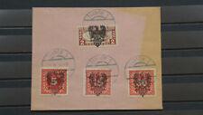 Polen 1918 / Lokalausgabe / TARNOW – Type II /  4 Briefmarken mit Sonder Stempe