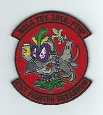 """21st FIGHTER SQUADRON """"NEW ORLEANS,LA DEPLOYMENT 2018,PTW"""" !!NEW!! patch"""