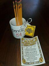 Vintage 1984 Hallmark Collectible Teacher Pencils 5 Five Cents Coffee Mug Cup