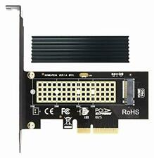 GLOTRENDS M.2 PCIe NVMe/AHCI SSD to PCIe 3.0 x 4 Adapter Card with Aluminum Heat