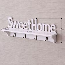 Da Parete Wood-Plastic Stoccaggio Muro Mensola Montaggio a Appendiabiti Ganci