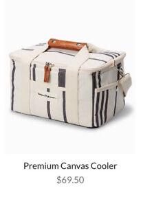 Business and Pleasure Co. Insulated Cooler Bag WhiteStriped-FabFitFun~ Ret $69