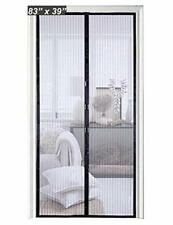 Magnetic Screen Door 34 x 82 Fiberglass Mesh Curtain Durable Pets Hands Free