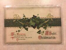 1915 Ivy & Ribbon Christmas Postcard