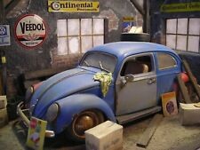 1:18 Vw Käfer Scheunenfund Diorama Tuning Beetle weathered Barn find custom Bug