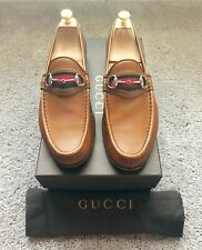 Authentic Gucci Tan Leather Mens Loafer UK10 EU44 US10.5