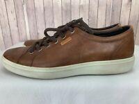 ECCO Danish Design Men's Brown Leather Lace Up Sneakers Shoes US 10-10.5 / EU 44