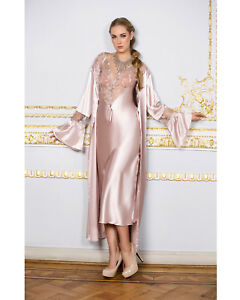 Women Top Quality Pink Satin and Lace Nightdress and Gown  European Products