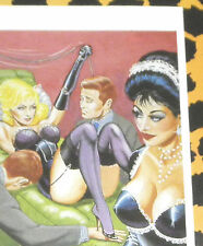 Eric STANTON Fetisch Kult Erotik Postkarte Akt Bdsm Kunst Zeichnung 1964 Domina