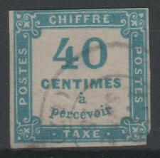 "FRANCE STAMP TIMBRE TAXE N° 7 "" CHIFFRE TAXE 40c BLEU "" OBLITERE A VOIR  K935"