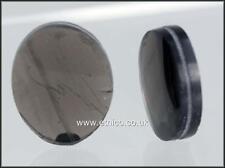 OBSIDIAN  Transparent    OVAL    Semi precious stones for Wire Work   x  2