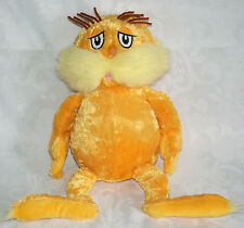 "Kohls 18"" The Lorax Plush Doll Dr Seuss Movie Kohl's EXCELLENT CONDITION"
