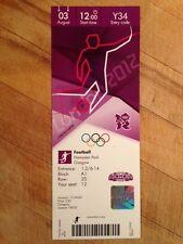 Billete de Londres 2012 Olímpico Fútbol Hampden Park de Glasgow 03 Ago 1200 Y34 * en Perfecto *