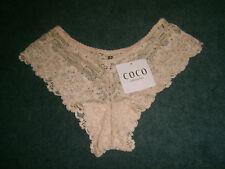COCO Intimates: Size: 8-10. Cheeky But Stylish Design Wide NUDE Lace, Midi Brief