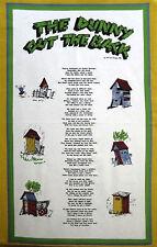 Australia Souvenir Kitchen Tea Towel - The Dunny Out The Back - Toilet