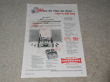 Sony Open Reel Ad, 1959, DK-555-A, Specs, Info, Article, 1 pg, Superscope Ad