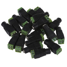 20pcs Camera DC Power Cable 2.1x5.5mm Female Plug Connector Adapter Jack Q1H4