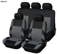 Per Nissan Fiat Lancia Set Coprisedili Grigio Bicolore Fodere Auto in Busta Pvc