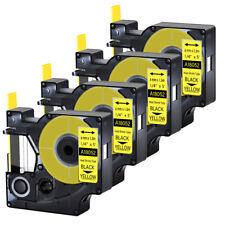 4pk For Dymo Rhino 42005200 Heat Shrink Tube 18052 Industry Label Tape 14x5