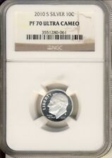 2010 S Roosevelt Dime Silver NGC PF70 Ultra Cameo
