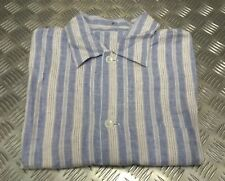 Genuine Vintage British Military Issue Stripped Pajama Top Size 2 M-L Un-issued