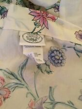 laura ashley chinese silk Floral Bedskirt Western King