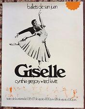 Ballet De San Juan Giselle Cynthia Gregory Ted Kivit Cartel Poster Puerto Rico