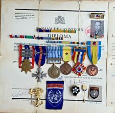 More details for dutch marine -  indonesia korea and new guinea medal and badge group