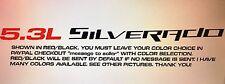 5.3L SILVERADO (1 Pair) Hood sticker decals For Chevy Silverado 14 1/2L X  3/4H