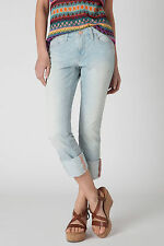 Pilcro Rolled Crops Jeans Pants Size 25 Light Denim NW ANTHROPOLOGIE Tag