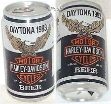 HARLEY-DAVIDSON MOTOR CYCLE BEER CAN 1993 DAYTONA BIKE RALLY JOE HUBER WISCONSIN