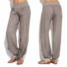 Plus Size Women Casual Linen Harem Pants Loose Baggy Wide Leg Yoga Long Trousers