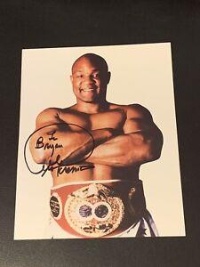 George Foreman Signed Vintage Boxing Photo 8x10 Photo JSA COA Autographed Rare