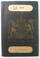 Vintage 1945 British Passport United Kingdom Great Britain & Northern Ireland