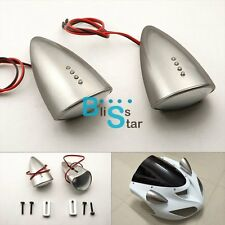 Silver Custom LED Mirrors Turn Signals Fit Yamaha YZF-R1 2002-2003 BS1