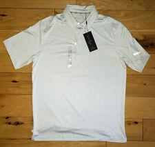 Mens Walter Hagen Perfect 11 Grey Striped Golf Polo Shirt Short Sleeve New M