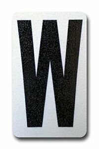 Individual Peel & Stick, Reflective Aluminum Numbers/Letters, 4 inch (W)