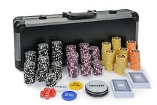 WPC Poker Chips Set - 500 Piece Numbered Poker Set w/ Free Accessories