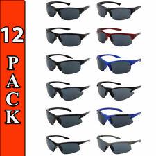 SPORT SUNGLASSES WHOLESALE 12 PACK WRAP STYLE GLASSES BULK LOT ALL NEW SUNGLASS