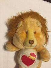 "Vintage 1984 Kenner Care Bear Cousins Brave Heart Lion 13"" Plush"