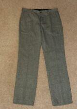 """Men's formale Dritto Pantaloni grigio H&M taglia 34"""" x 32"""" 2 lato 2 tasche posteriori"""