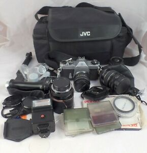 Asahi Pentax Spotmatic F 35mm SLR film camera with SMC Takumar lenses