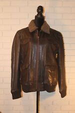 NWT Durango Eagle Eye dark brown leather bomber jacket Mens size Large