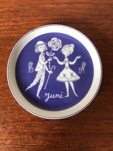 Vintage Rosenthal Studio-Line Peynet Calendar Trinket Dish/Coaster June Germany