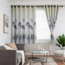 Natural Landscape Window Curtain Blackout Living Room Bedroom Curtains Drape QK