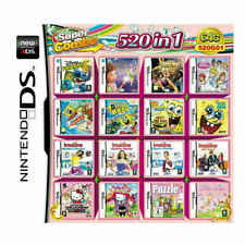 NEW 520 in 1 Games Card Cartridge For Nintendo NDS NDSL 3DS NDSI Game Consoles