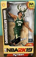 McFarlane Giannis Antetokounmpo NBA 2K19 Milwaukee Bucks Green Action Figure