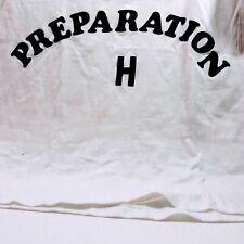 Vintage Novelty Shirt Preparation H Slogan