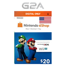 Nintendo 20$ eShop Gift Card - 20 USD Nintendo Switch/3DS/WiiU Digital Key [US]